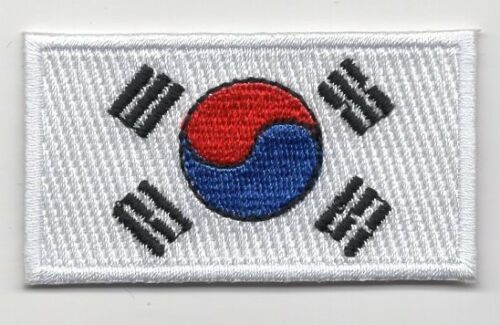 La Corée Du Sud Drapeau Patch brodé Iron On Applique-coréen
