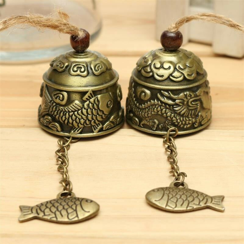 Metal Chinese Style Small Wind Chimes Bell Pendant Home Garden Decoration