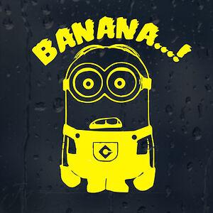 Minion Banana Car Decal Vinyl Sticker For Window Bumper Ebay