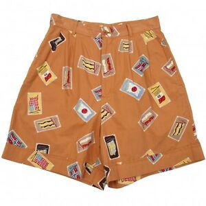 PINK HOUSE Cotton flag print culotte pants Size About S(K-28587)