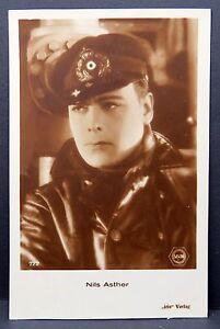 Nils-Asther-AK-Foto-Autogramm-Karte-Photo-Postcard-Lot-F1940