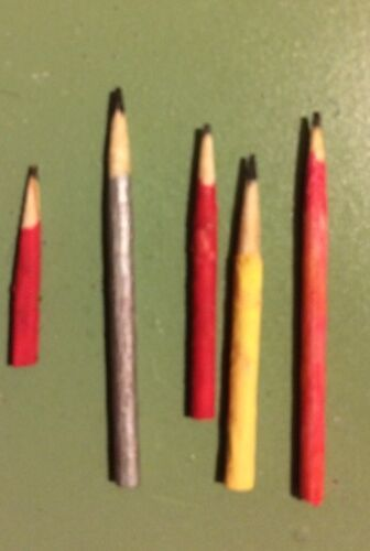 1.5cm-6cm Miniature Pencils-Set of 5 for DOLLHOUSE Etc Crafts