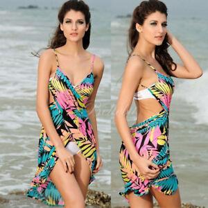 c69aa081a9b14 Women Sexy Beach Dress Bikini Swimwear Cover Up Sarong Summer ...