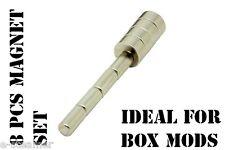 Hammond Enclosure Magnet Set (4) 5mm x 3mm Disc (4) 3mm x 5mm DIY mod box Kit