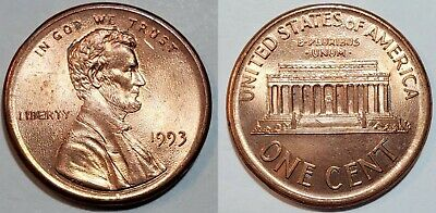 1993 - RED BU - RARE DATE - BROADSTRUCK - LINCOLN CENT ...