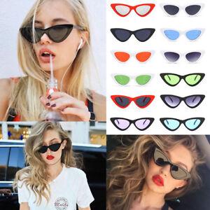 94c9186b21d7 Fashion Womens Lolita Tiny Retro Cat Eye Vintage Sunglasses Flat ...