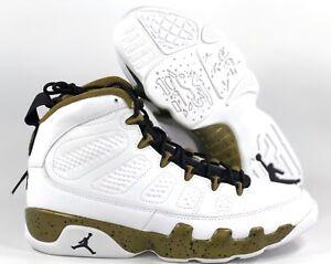 6362e6a61093 Nike Air Jordan 9 Retro Statue White Black Militia Green 302370-109 ...