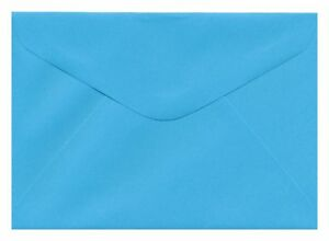 New-C6-114-x-162mm-Coloured-Envelope-Kaskad-Peacock-Blue-100gsm