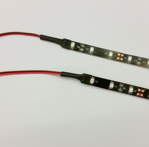 MOLEX 60cm Code COPPIA 30cm STRISCE Bilancio Modding LED Verde PC CUSTODIA LUCE