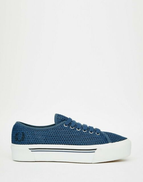 Fred Perry Phoenix Mesh Plimsoll Trainers UK6 EU39 JS07 32