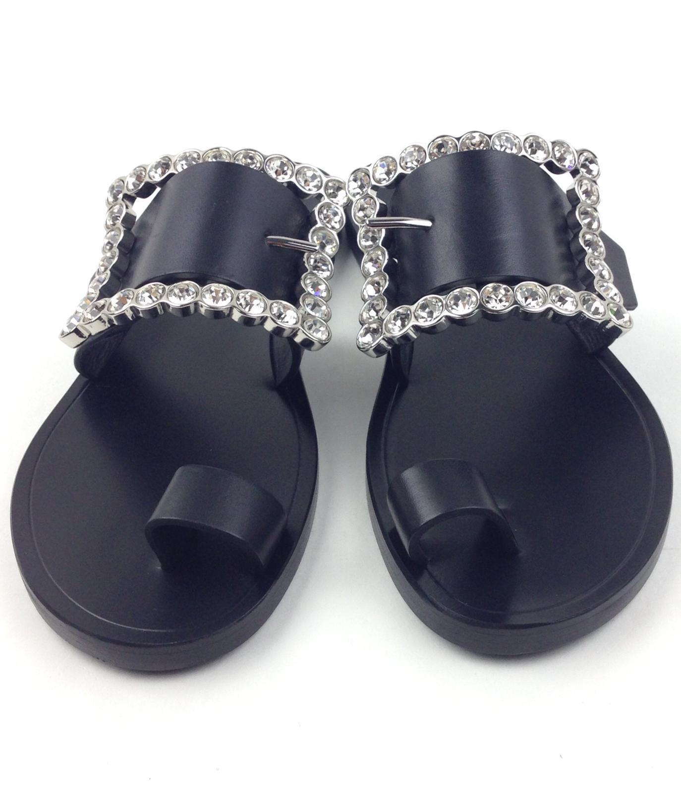 MAISON MARGIELA Embellished leather sandals sz 36.5