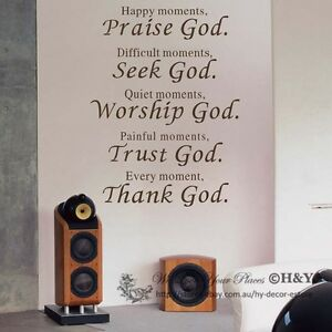 Image Is Loading Christian Wall Art Quote Removable Vinyl Decal Stickers