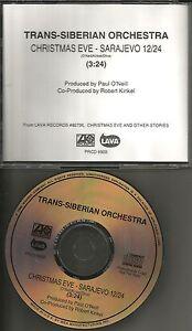 TRANS SIBERIAN ORCHESTRA Christmas Eve Sarajevo PROMO DJ CD Single ...