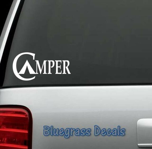 A1076 CAMPER CAMPING Decal Sticker for Car Truck SUV Van LAPTOP HIKING TENT WALL