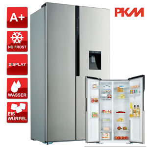Side by Side Kühlschrank A+ PKM SBS528.4A+NF Front Inox  No Frost 2l Wassertank
