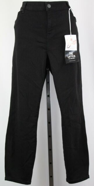9514dad8b3a NWT Celebrity Pink Black Body Sculpt Cropped Plus Size Jeans Size 20
