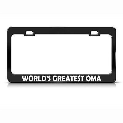 Worlds Greatest Grandma Chrome Metal License Plate Frame Tag Holder