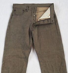 bouton 33x30 jambe Tag droite mesuré Homme 32x28 gris Levi's Jeans à 501xx Fly pA0q6v