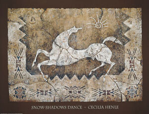 SnowShadows-Dance-Art-Print-by-Cecilia-Henle-White-Horse-Pony-Spirit