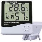 Thermometer Indoor Digital LCD Hygrometer Temperature Humidity Meter Alarmclock