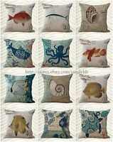 Wholesale 10 Marine Cushion Covers Sealife Beach Decor Pillows Cheap