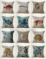 Wholesale 10 Marine Cushion Covers Sealife Beach Decor Pillows Cheap