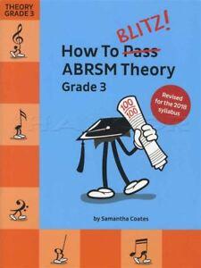En Herbe Comment Blitz Abrsm Theory Grade 3 Révisé Sheet Music Book Tests Examens 2018-afficher Le Titre D'origine Exquis (En) Finition