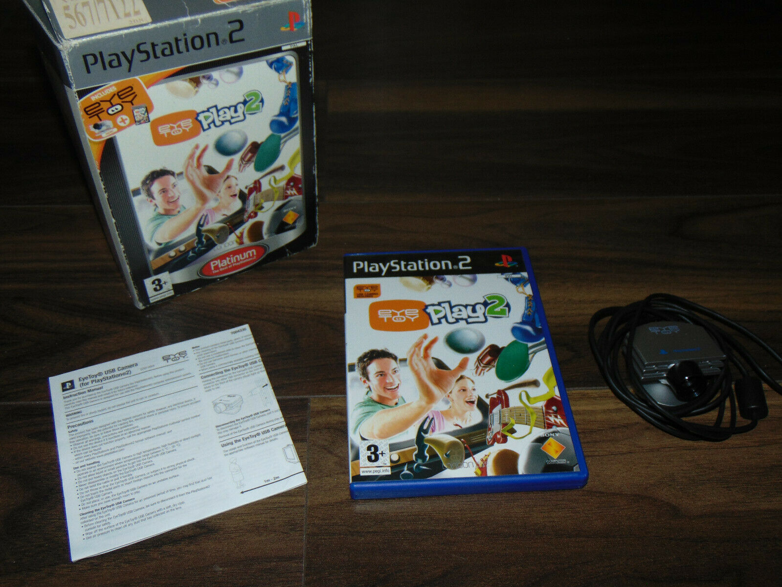 Sony Official PS2 Eye Toy Play Two with Camera Playstation Two
