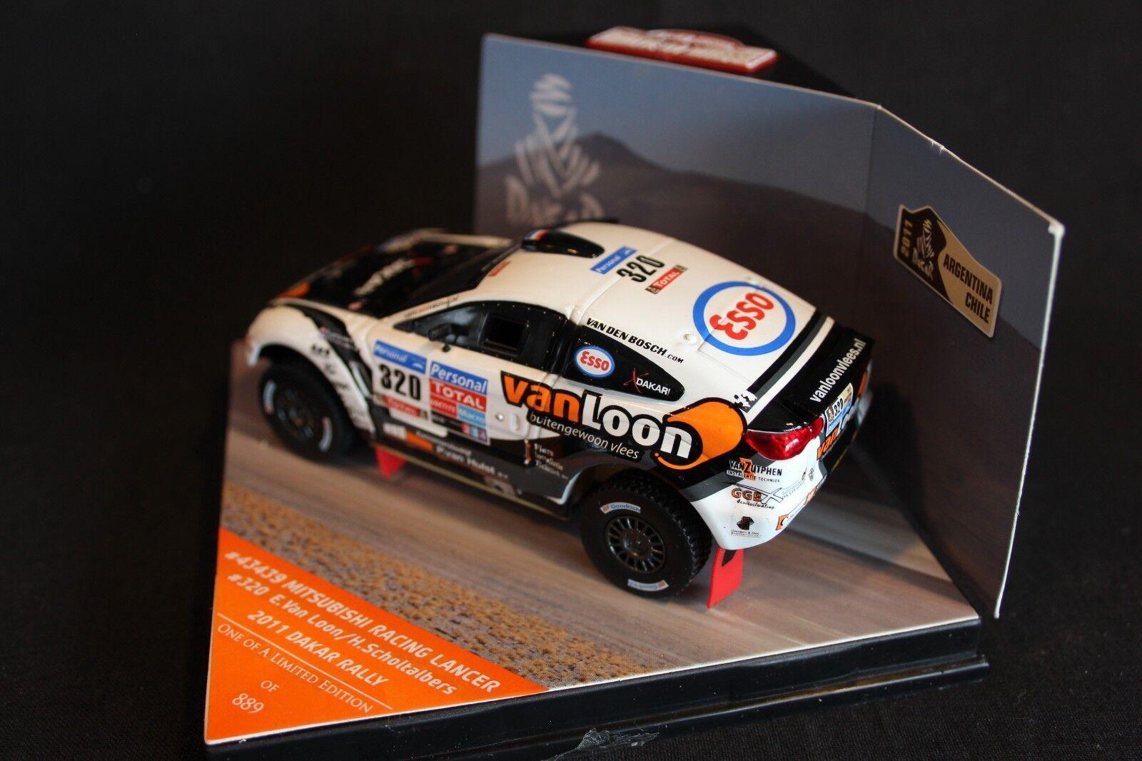 Vitesse Mitsubishi Racing Racing Racing Lancer 2011 1 43 v. Loon   Scholtalbers Dakar a60eb4