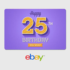 eBay Digital Gift Card - Happy 25th Birthday Purple -  Email delivery