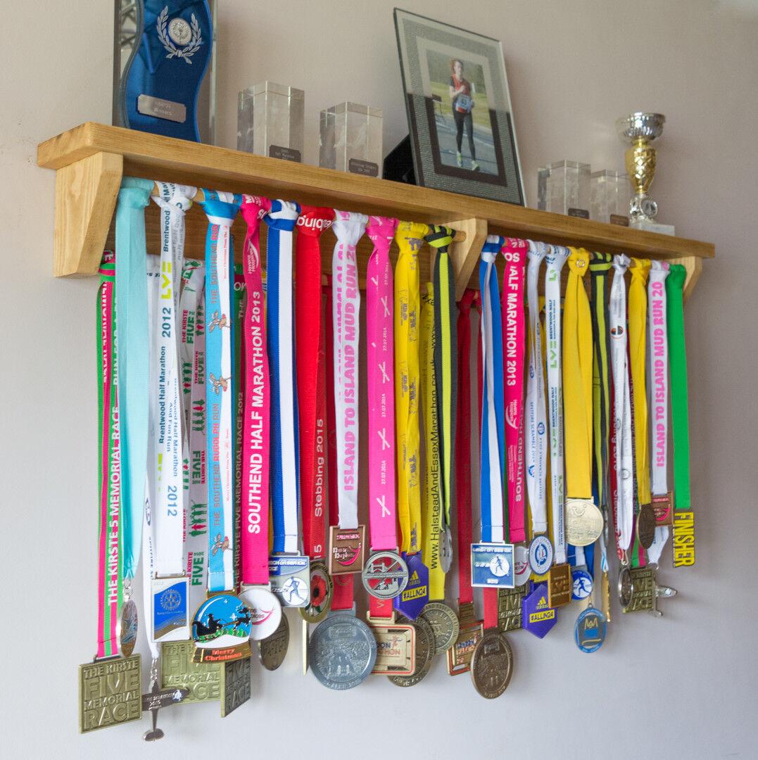 Medal Hanger Holder Trophy Shelf. Wooden. Gift for runners, gymnastics Marathon