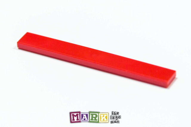 LEGO Parts~ Tile 1 x 8 ~ 4162 RED 4