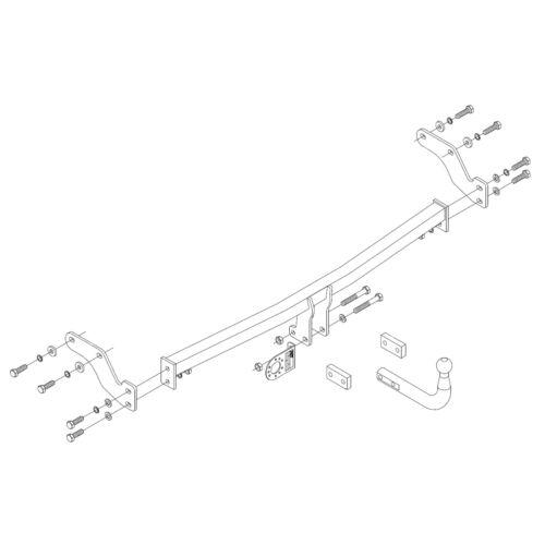 Swan Neck Tow Bar PCT Towbar for Hyundai i10 2008-2011