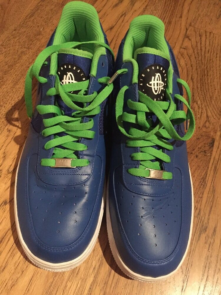 Nike Men's Air Force 1 Huarache. bluee And Green. Size 14