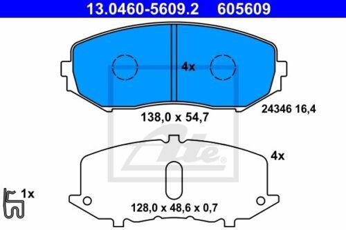 ATE Bremsbelagsatz Scheibenbremse 13.0460-5609.2 für SUZUKI GRAND VITARA JT TE 2