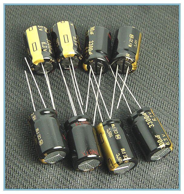 6pcs Samwha Electric WL 3300uF 10v 105C Radial Electrolytic Capacitor Low ESR