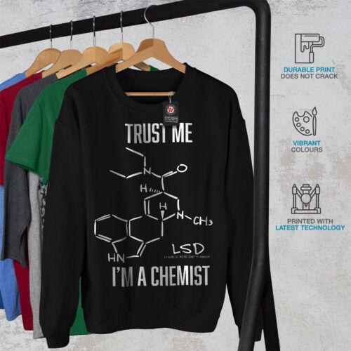 Confía mí en Black sudadera hombre soy químico New 661qfx