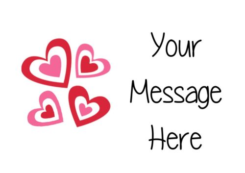 63 autocollants personnalisés étiquettes d/'adresse fait main fait par amour-Coeurs x4