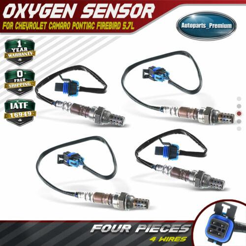 4x Up+Downstream Oxygen Sensor for Chevrolet Camaro Pontiac Firebird 98-99 5.7L