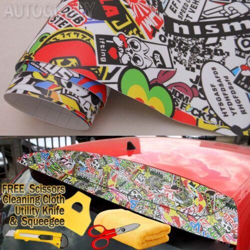 JDM illest Stickerbomb Graffiti Cartoon Vinyl Film Wrap Sticker Air Bubble Free