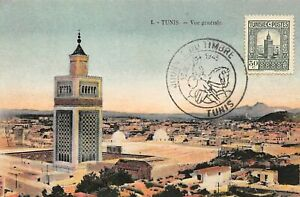 Tunisie-n-57972-tunis-vue-Generale-carte-Maximum