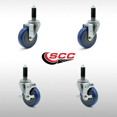 "7-7//8/"" x 1-1//4/"" Rhombus Swivel Round Stem Caster w//Directional Brake 390Q 1-4451"
