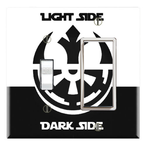 Light Side Dark Side Graphics Art Toggle//Rocker//GFCI//Outlet Wall Plate