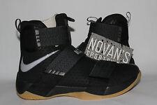 Nike Lebron Soldier 10 SFG Black Gum 844378-009 sz 7.5 Finals PE Game 7 Champ
