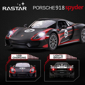 licensed 1 14 porsche 918 spyder usb charge rc radio remote control car kid t. Black Bedroom Furniture Sets. Home Design Ideas