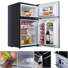 Black 2 Door 3.4 Cu. Ft Compact Refrigerator Freezer CFC Free Furniture Home