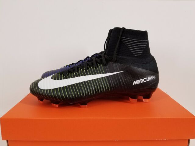 best authentic 6c2e9 6393f NIKE MERCURIALSUPERFLY V FG BLACK WHITE-ELECTRIC GREEN 831940 014