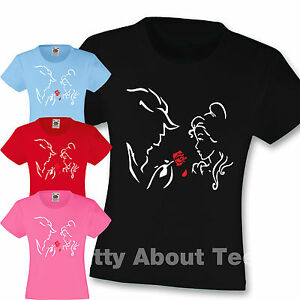 Kids Beauty and the Beast Inspired Girls T Shirt Disney  Tee Princess age 3-15