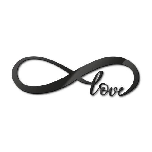 Acrylbuchstaben Unendlich Love DEKOELEMENT Wohnaccessoires Wanddeko schwarz