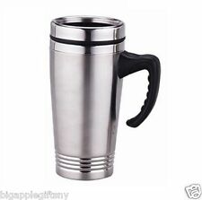 Stainless Steel Insulated Double Wall Travel Coffee Mug Cup 16oz New